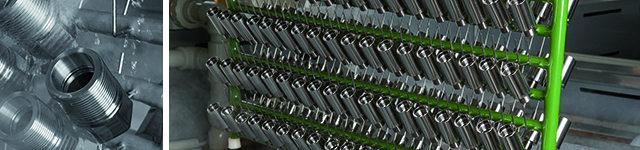 Chemisch Nickel und Hartchrom Beschichtungen finden v.a. im Maschinenbau, in der Herstellung von Armaturen und Automobilen Anwendung