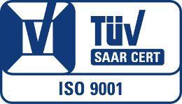 Tüv Saar Logo Zertifizierung nach ISO 9001